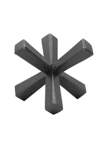 Warm Design El Oyması Mango Dekoratif Obje Siyah